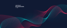 Abstract Background With Dynamic Waves.