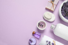 Cosmetic Products And Lavender...