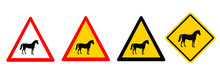 Warning Zone, No Horse Riding....