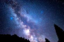Starry Sky. Milky Way Galaxy. ...