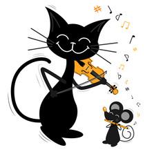 Two Musicians-friends, A Black...