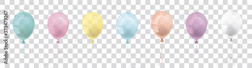 Pastel Transparent Balloons Set Header Fototapet