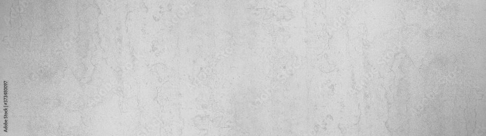 Fototapeta White gray grey bright stone concrete chalkboard texture background wide panorama banner long