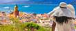 canvas print picture - panorama of Saint-Tropez, Var, Côte d'Azur, France