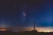 天の川と木星と土星と鉄塔