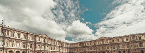 The Louvre architecture in Paris Canvas Print