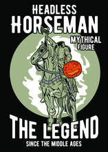 Vector Illustration Of Headless Horseman