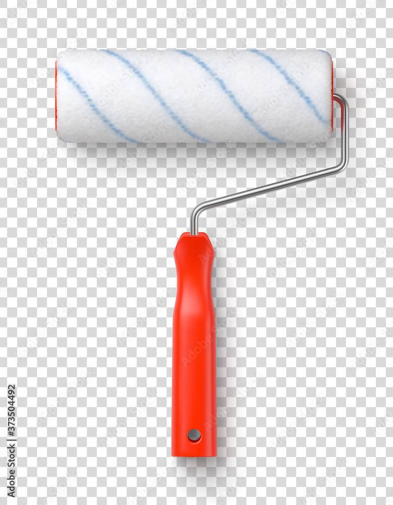 Rouleau à peinture vectoriel sur fond transparent