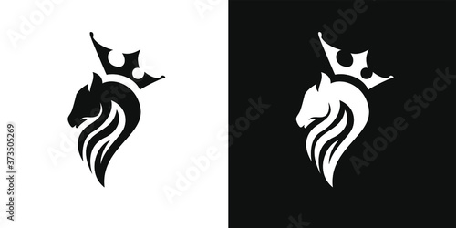 Fotografía royal horse, abstract horse logo with crown