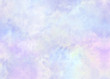 canvas print picture - Pastel violet blue cloudy watercolor background of abstract rainbow sunset sky