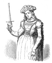 Joan Of Arc,  Is Considered A Heroine Of France In The Old Book Encyclopedic Dictionary By A. Granat, Vol. 3, S. Petersburg, 1896
