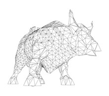 The Charging Bull. Vector