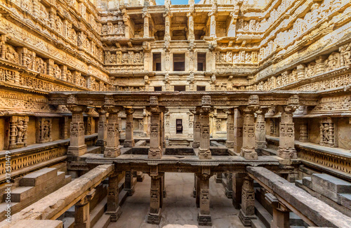 UNESCO world heritage Queen's step well or rani ki vav is situated in the town of Patan, district patan in Gujarat state of India Fototapete