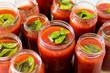 canvas print picture - Conserve de purée de tomate