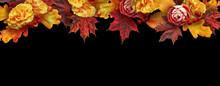 Fall Floral Banner, Header Wit...