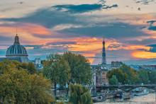 Eiffel Tower And Institut De F...