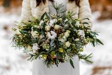 Bride Holding A White Wedding ...