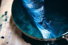 Swirl Details Of Resin Artwork In Progress