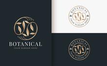 Abstract Golden Flower Logo Design
