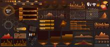 Golden-yellow Vector HUD Set I...