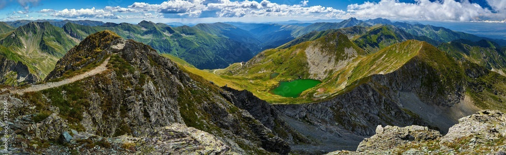 Fototapeta Glacial lake in the mountains