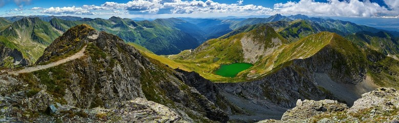 Glacial lake in the mountains