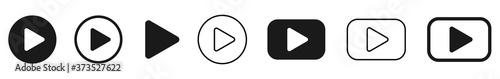 Foto Play button icon vector set