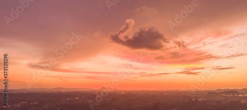 landscape and sunset aerial view Slika na platnu