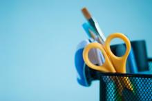 School Supplies In An Organize...