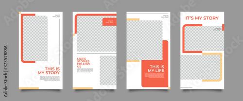 Design backgrounds for social media banner Canvas