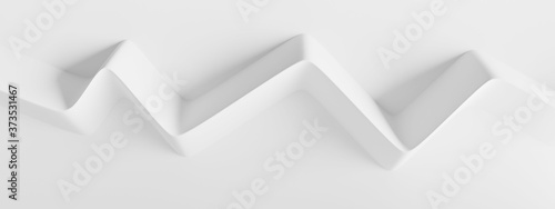 Fotografija Modern Geometric Wallpaper. White Minimal Panorama
