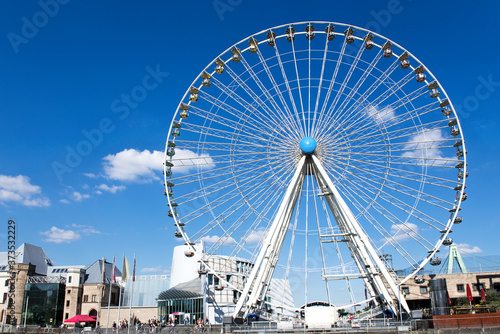 Photo Riesenrad, Himmel, Wolken