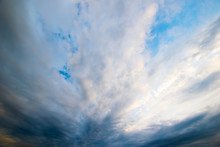 Dramatic View On The Sky With Clouds