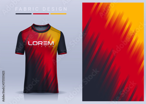 Fotografia Fabric textile for Sport t-shirt ,Soccer jersey mockup for football club