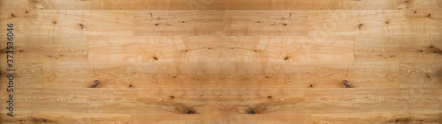wood background banner wide panorama - top view of wooden solid wood flooring pa Fototapeta