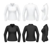 Women's Long Sleeve Polo Shirt