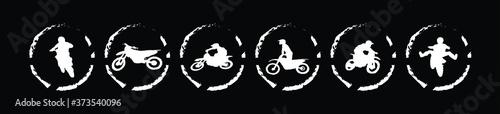 Fotografie, Obraz set of motocross  cartoon icon design template with various models