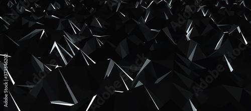 Obraz na plátně low poly 3d spitzen, perspektive ansicht, computergrafik mit reflektionen und sc