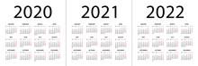 Calendar 2020 2021 2022 - Illu...