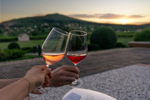 Toast With An Romantic View In...