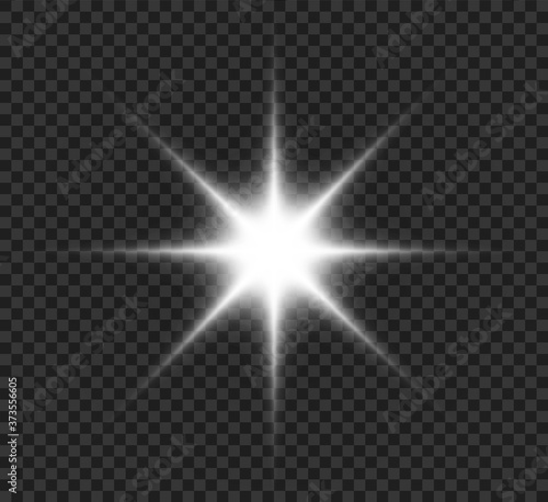 Fototapeta Star explodes on transparent background