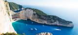 Fototapeta Fototapety z morzem do Twojej sypialni - Zatoka wraku (Navagio beach) - Zakynthos, Zante, Grecja