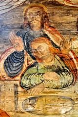 Ostatnia wieczerza, malowidło ścienne w kościele św. Leonarda w Lipnicy Murowanej