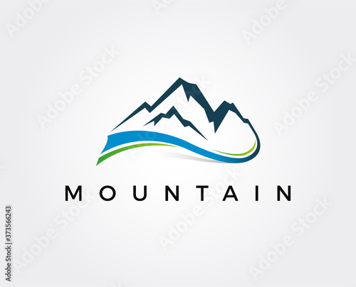 Fotografie, Obraz minimal mountain logo template - vector illustration