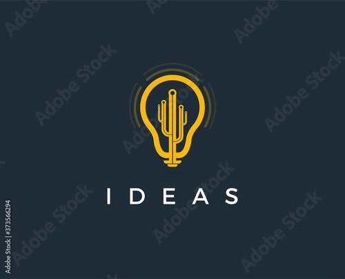 minimal idea logo template - vector illustration Wallpaper Mural