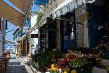 Hydra Island, Greece 2020. Vegetable Vendor At Hydra