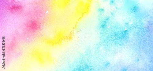 Obraz na plátně カラフルな水彩背景テクスチャ
