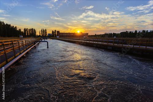 Fotografija Modern wastewater treatment plant