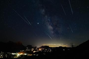 Meteors over Sedona