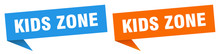 Kids Zone Banner Sign. Kids Zo...